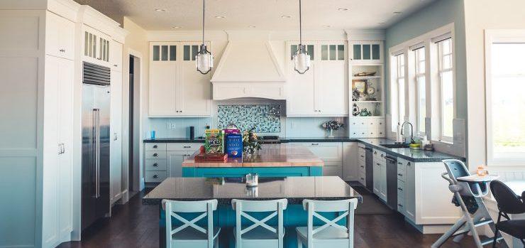 a big kitchen