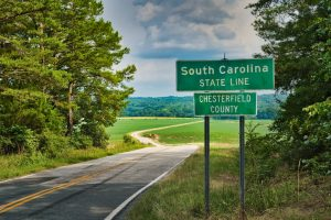 North and South Carolina state line - whether you cross this line makes all the difference between interstate and intrastate moving.