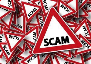 -illustration of scam sign