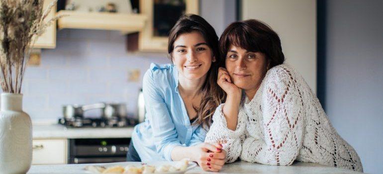 Mom and teenager