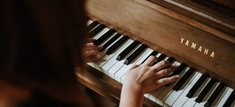Invest in additional moving services when you need to move items such as a piano