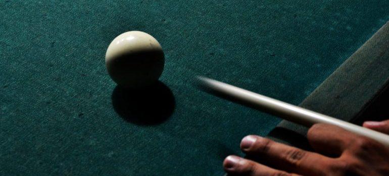 a billiard ball