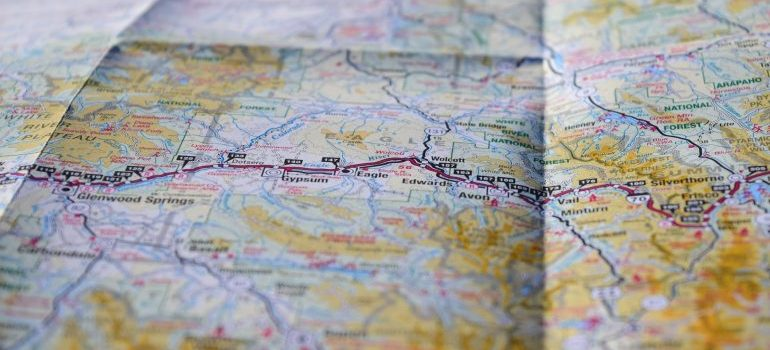 minimize the stress of moving by planning the route that you are going to take carefully