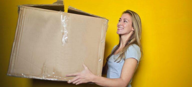 women holding the box