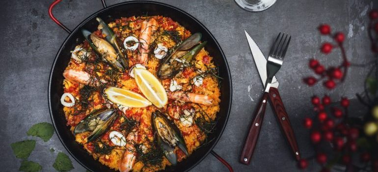A seafood dish