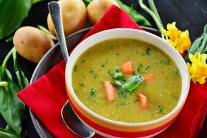 potato soup on the table