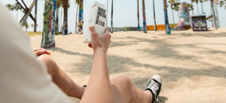 A local enjoying their time on the beach