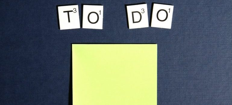 """Picture of a """"to do"""" list"""