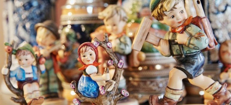 ceramic figurines on a table