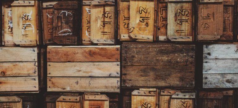 Crates may help you while you pack your backyard decorations for a move