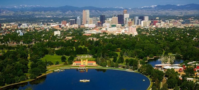 a sky view of one of Colorado's cities