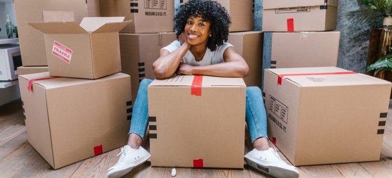 A woman enjoying the move.